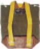 黄線入国防色背負袋